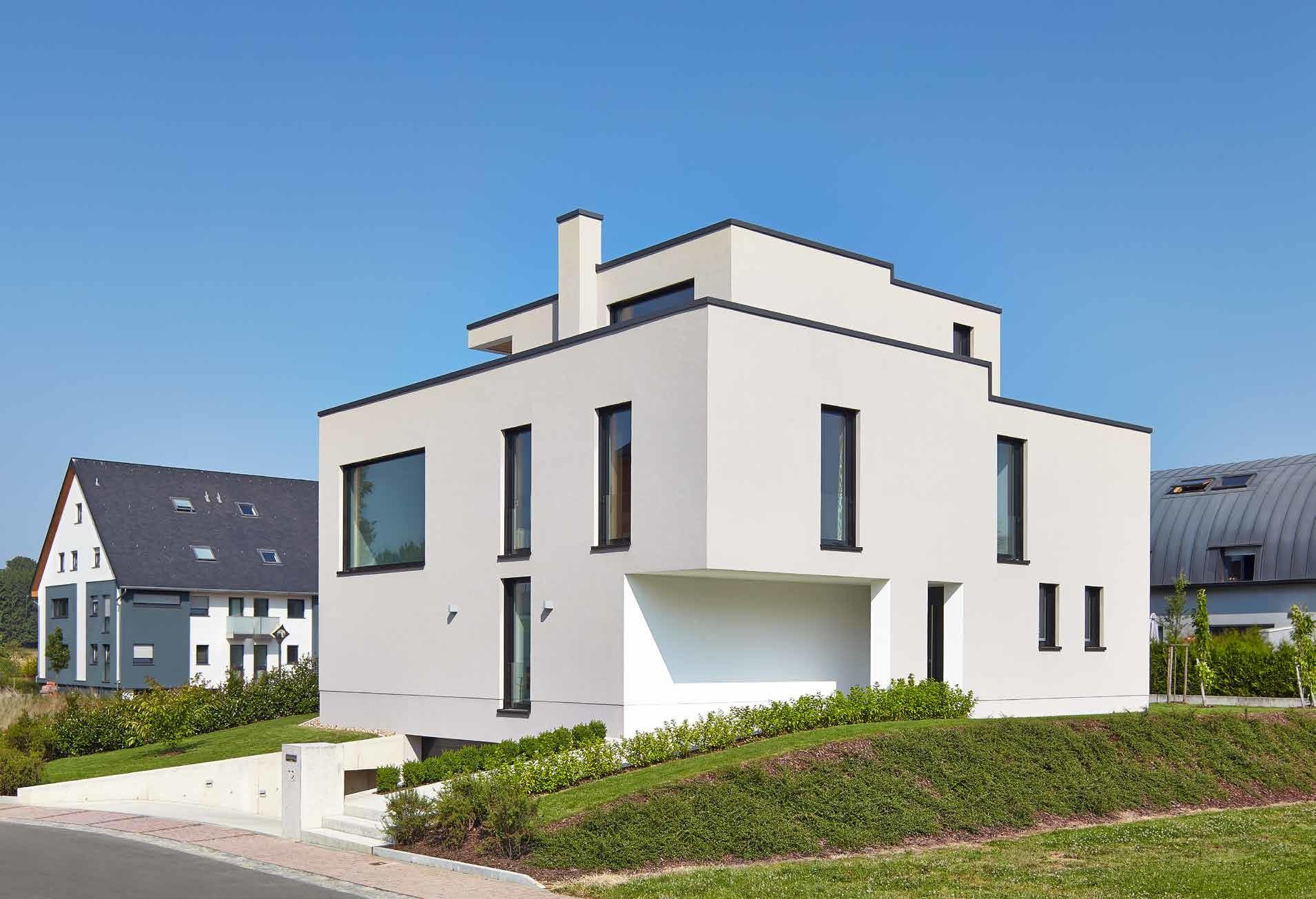 modernes Haus, verschachtelter Kubus