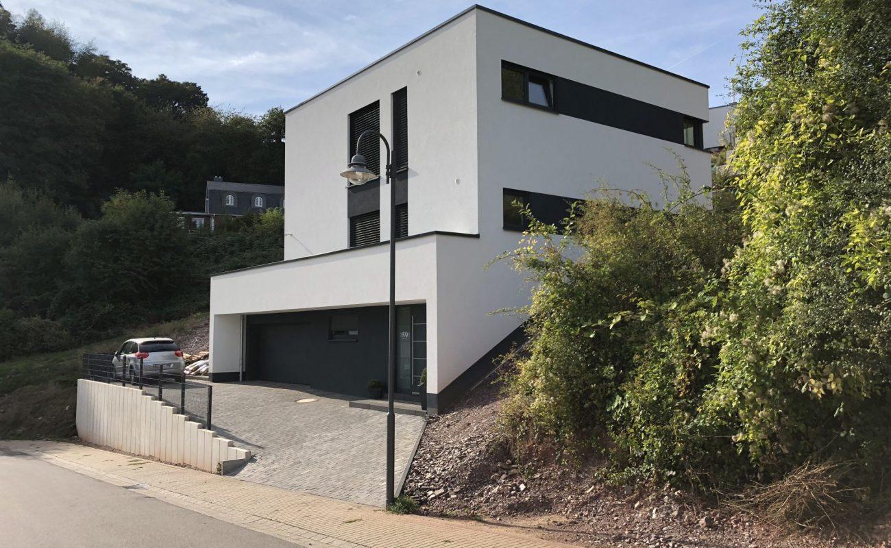 Neubau mit Einfahrt und Garage
