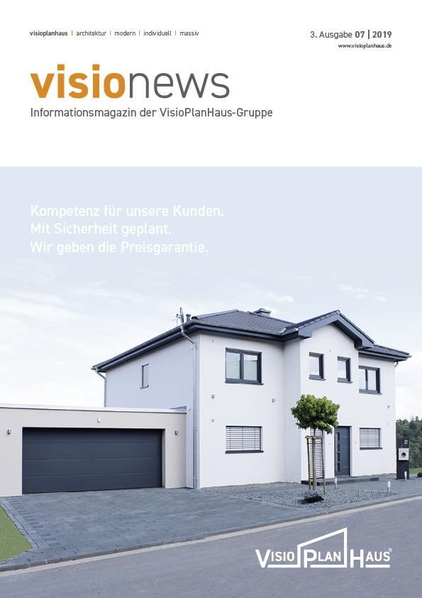 Cover Informationsmagazin visionews von Visioplanhaus 3. Ausgabe 2019